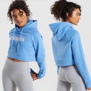 Gymshark | Crest Cropped Hoodie in Malibu Blue XS